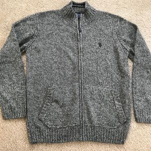 Us Polo zip up sweater sz L